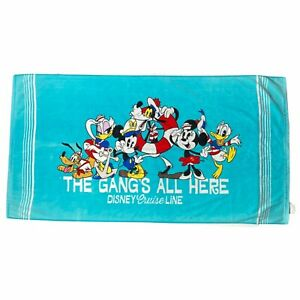 Disney Cruise Line Mickey Mouse Towel & Friends Beach Summer Pool Blue One Size