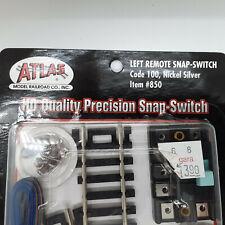 Atlas HO Code 100 Nickel Silver Left Remote Snap-Switch #850 ~ TS