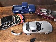 LOT DIE-CAST Mercury F100 Benz Jaguar 1:24 JUNKYARD Broken Parts Lot R5