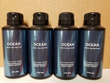 LOT OF 4 BATH & BODY WORKS OCEAN MENS BODY SPRAY BRAND NEW BUT DINGED PRODUCT OK