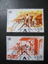 Vereinte Nationen UNO Wien MiNr. 69-70 gestempelt (B 987)