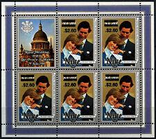 Niue 1981 SG#520 $2.60 On $1.20 Royal Wedding MNH Sheetlet #D38021