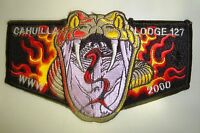 OA CAHUILLA 127 CA INLAND EMPIRE COUNCIL PATCH 2000 FIRE SNAKE SERVICE FLAP