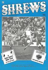 Shrewsbury Town v Stoke City - Div 2 - 26/12/1985 - Football Programme
