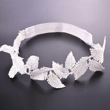 Elegant Women Bridal Headband Flower White Lace Gothic Jewelry Wedding Hairband