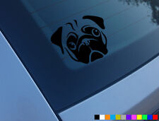 PUG DOG CAR STICKER DECAL BUMPER WINDOW VINYL FUNNY LAPTOP NOVELTY VAN