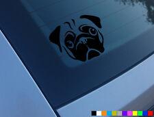 PUG DOG CAR STICKER DECAL BUMPER WINDOW VINYL FUNNY LAPTOP NOVELTY VAN