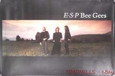 1987 Bee Gees E.S.P. Warner Bros Record Store Promo Poster Vintage Original VG