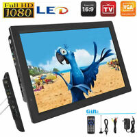"Portable 14"" LED 1080P Digital TV Player Handheld DVB-T/T2 HD Video USB/AV/TF/DC"