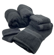Wamsutta Icon PimaCott Large Bath Sheet Hand Towel Washcloth Set in Charcoal