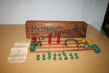 Antique Parlor Croquet Set #860 J Pressman & Co - Complete with Rules