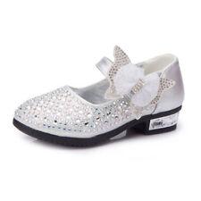 Kids Girls Sequin Bowknot Princess Sandals Diamante Wedding Party Dress Up Shoes