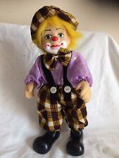 Porcelain Clown Doll. Musical. Moves