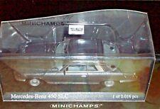 Minichamps 1/43 1974 MERCEDES BENZ 450 SLC Grey Metallic Limit 2016 pc 430033424
