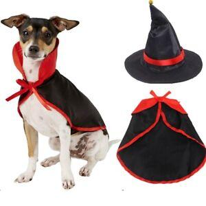 Halloween Pet Costume Set Pet Cape Vampire Costume Cloak And Pet Witch Hat