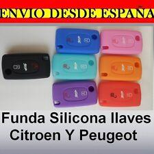 Funda Silicona 3 boton llave Citroen C2 C3 C5 C4 Picasso Peugeot 107 207 307 30