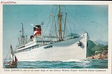 Postcard Ship TES Jamaica Great White Fleet United Fruit Company