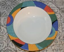 "Victoria & Beale Accent 9019 10"" Round Vegetable Bowl Multicolor Geometric"