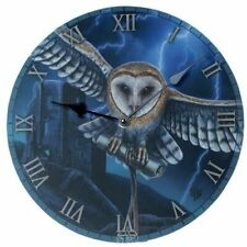 Wall Clock Wall Heart of Tee Storm Owl Designed by Lisa Parker
