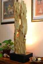 95cm Stehlampe Teak Treibholz Schwemmholz antik shabby Lampe Leuchte Bodenlampe