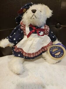 "Pickford Bears The Brass Button Bear Collection  w Tag 11"" opal 1996 New W/ Tags"