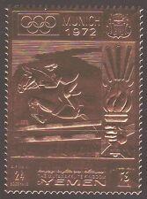 Yemen KGr 1969 ** mi.914 a Olympic Games Juegos Olímpicos, oro foil, Horse