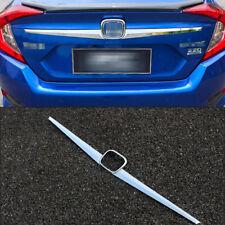 For Honda Civic 10th 2016 2017 2018 Chrome Rear Trunk Ld Molding Cover Trim