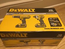 New DeWalt 18V DCZ298C2-GB 1.3Ah Li-Ion XR Cordless Combi Drill 2 Piece Pack