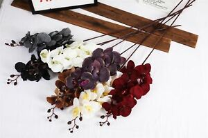 Premium Modern Large Orchid - Real Touch Home Decor Artificial Flowers