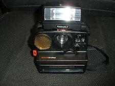 Vintage Polaroid Pronto Land Camera SONAR OneStep with 2209 Polatronic 2 Flash