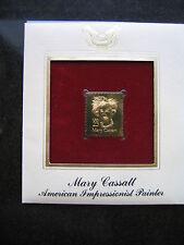 MARY CASSATT PAINTER 22kt Gold Stamp Replica FDI FDC Golden Cover