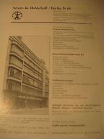 Berlin Firma:Schulz&Holdefleiß,Metall Werbeblatt 1944/48.Advertising 1944 Berlin