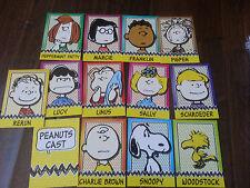 2013 Peanuts Promo Sammelkarte Set mit 13 Charlie Brown Lucy Snoopy Marcie Rerun