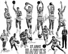 1959-60 ST. LOUIS HAWKS BASKETBALL 8X10 TEAM PHOTO