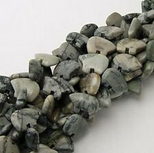Natural Picasso Marble Zuni Bear Fetish Beads