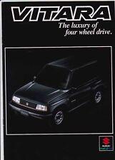 Two 1992 SUZUKI VITARA Australian Brochures WAGON HARDTOP CANVAS TOP as SIDEKICK