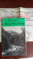 PECHE - Pêche en Béarn et Pays Basque - 1957 - 42 pages + carte libre