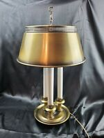 Vintage French Frederick Brass Bouillotte Style with Tole Lamp metal Shade 3 way