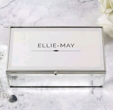 Personalised Mirrored Jewellery Trinket Box Birthday Mother's Day Gift Any Name