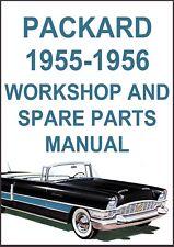 PACKARD 1955-1956 CLIPPER, CARIBBEAN, PATRICIAN WORKSHOP MANUAL
