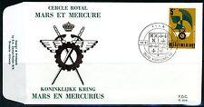 (B) 1855 FDC 1977 - 50 jaar van de Koninklijke Kring Mars en Mercurius.