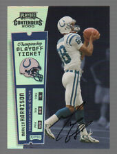 Marvin Harrison Autograph 2000 Playoff Contenders Championship Ticket Auto /100