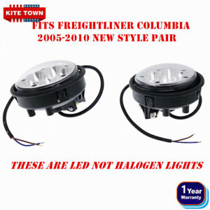 New Pair Led Fog Light New Style Very Bright For Freightliner Columbia 2005-2010