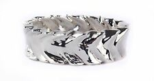 Bat-Ami Sterling Silver Brade Silver Bracelet Bangle BR1367
