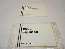 2005 CHEVROLET EQUINOX OWNER MANUAL & WARRANTY INFORMATION BOOKLET, 2 PIECE SET,