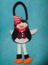 Christmas Penguin Girls Plush Purse Metal Clasp Small 2011 CBOCS Distribution