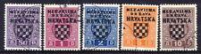 CROATIA 1941 Chessboard arms overprint on postage due set used