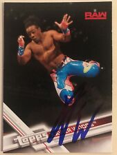 Xavier Woods signed WWE Topps 2017 Card Autograph New Day