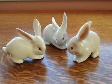 Vintage Signed Zsolnay Hungary Porcelain Rabbit Figurine