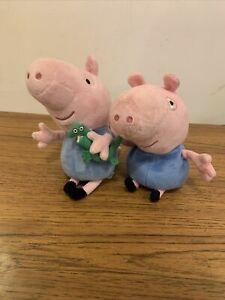 TY Peppa Pig - Pair of 2 x George Beanie Plush Toys